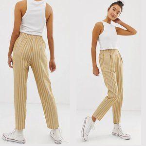 NWT Pull & Bear Striped Peg Leg Pants